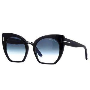 TOM FORD SAMANTHA-02 TF 553 01W Black Sunglasses